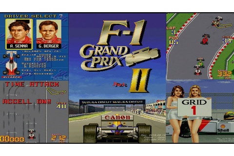 F-1 Grand Prix Part II - Course A Full Game Playthrough ...