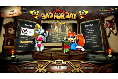 Rare Replay OST: Conker's Bad Fur Day Menu Theme - YouTube