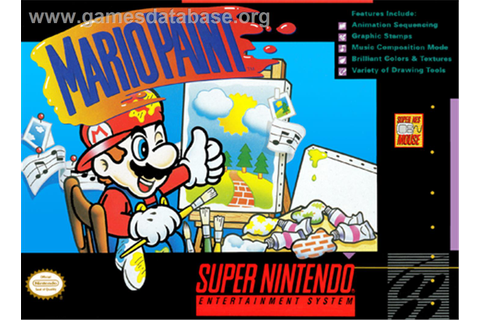 Mario Paint - Nintendo SNES - Games Database