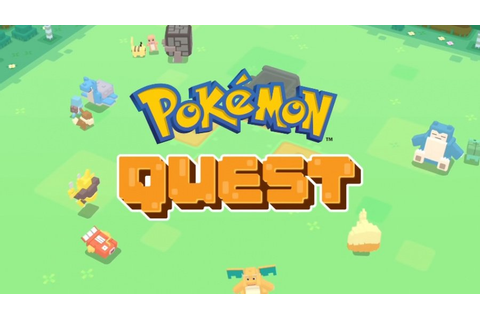 Pokémon Quest Is A New Free-to-Start Game for Nintendo ...