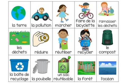 Jour de la Terre: Earth Day Themed Bingo Game in French | TpT