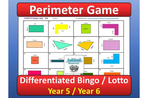 Perimeter Game Year 5 / 6 by FullShelf | Teaching Resources