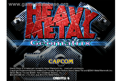 Heavy Metal Geomatrix - Arcade - Games Database