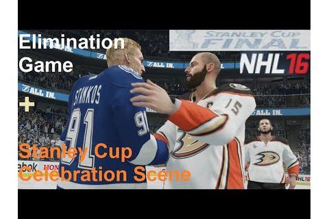 NHL 16 Stanley Cup Finals Elimination Game (Xbox One ...