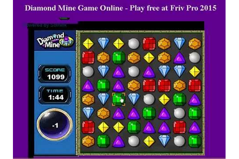 Friv: Diamond mine game online - YouTube