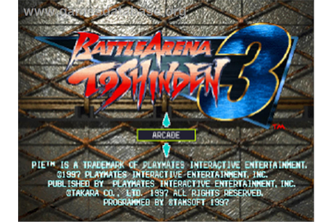 Battle Arena Toshinden 3 - Sony Playstation - Games Database