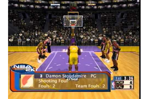 NBA 2K1 Sega Dreamcast Gameplay - YouTube