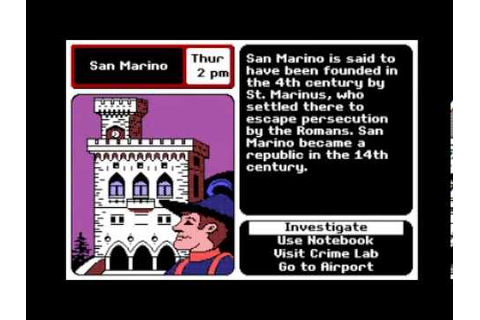 Where in Europe is Carmen Sandiego? (1990) EGA DOS Version ...
