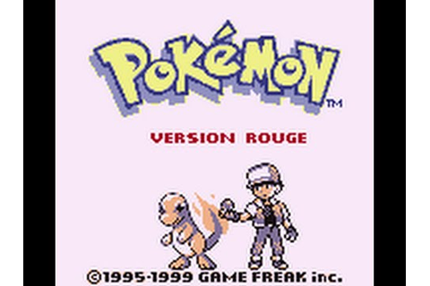 Pokémon Rouge et Bleu : Introduction (01) - YouTube