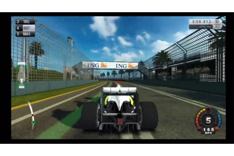 F1 2009 (Wii) Melbourne Grand Prix Circuit - YouTube