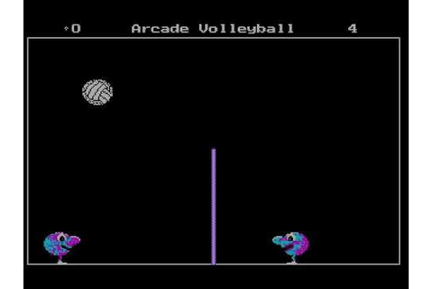 DOS - Arcade Volleyball (1987) - YouTube