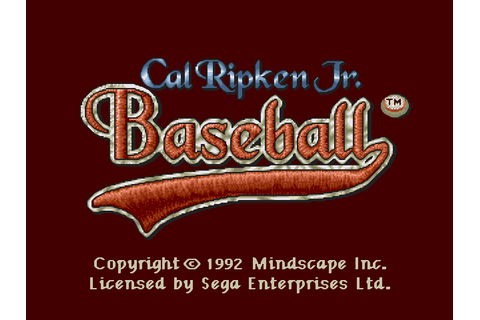 Cal Ripken Jr. Baseball Screenshots | GameFabrique