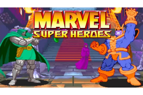 MARVEL SUPER HEROES (ARCADE CPS2) Dr.DOOM Playthrough ...