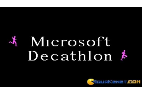 Microsoft Decathlon gameplay (PC Game, 1982) - YouTube