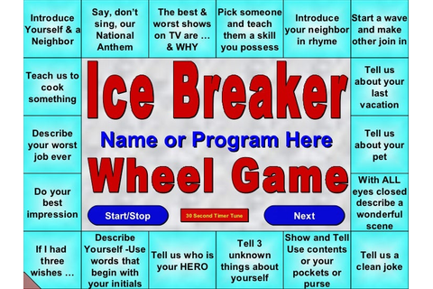 Icebreaker Wheel Game