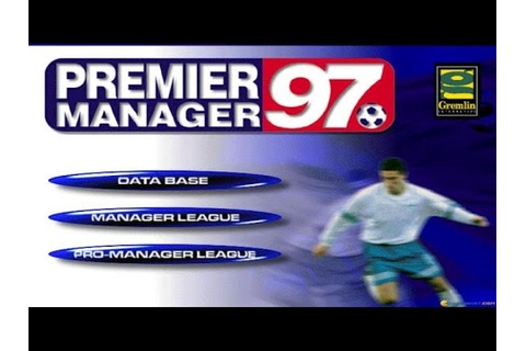 Premier Manager 97 - 1997 PC Game, gameplay - YouTube