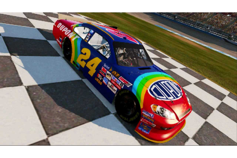 Nascar The Game 2011 Custom Cars: Jeff Gordon Rainbow ...