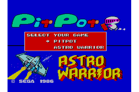 Astro Warrior & Pit Pot Screenshots | GameFabrique