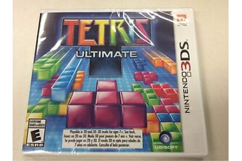 Tetris Ultimate NINTENDO 3DS DS GAME TETRIS ULTIMATE BRAND ...