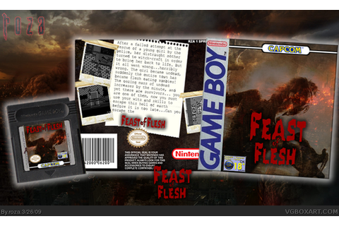 Feast of Flesh Game Boy Box Art Cover by roza