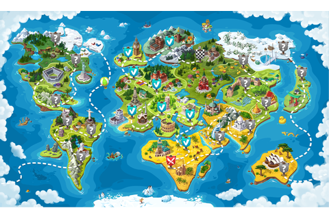 World map for the game on Behance