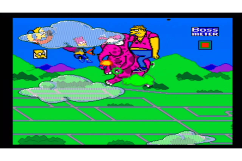 Simpsons Barts Nightmare Mega Drive Gameplay - YouTube