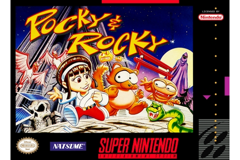 Pocky and Rocky SNES Super Nintendo