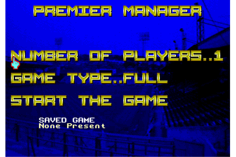 Download Premier Manager - My Abandonware
