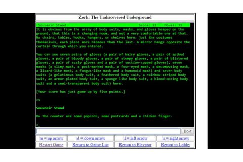 Zork: The Undiscovered Underground for web browsers - YouTube