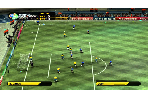 FIFA World Cup 2006 Maxed Out Gameplay - Estonia vs Brazil ...
