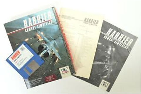 Amiga Harrier Combat Simulator Game Mindscape Manual ...