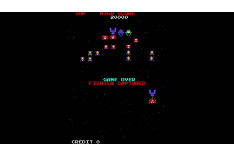 Galaga Startup Sequence - YouTube