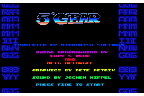 5th Gear (1990) by Microwish Software Amiga game