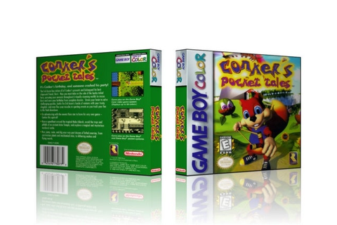 GBC Conker's Pocket Tales Collector's Game by CustomGameCases