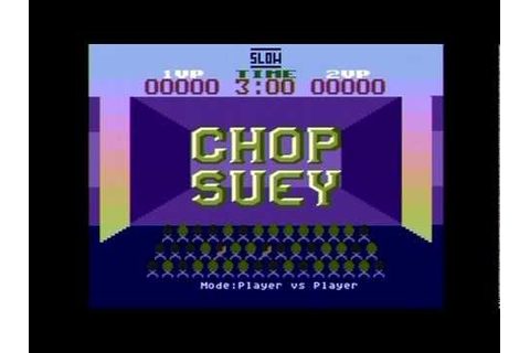 Chop Suey [Atari 8bit] -- Nice and Games - YouTube