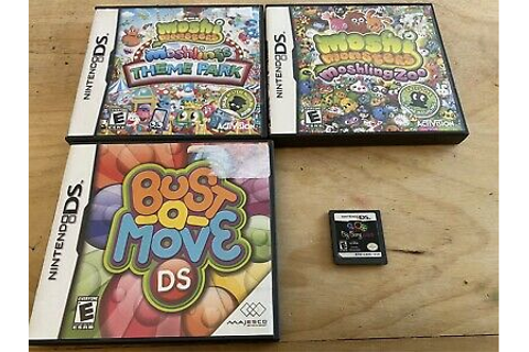 Nintendo DS Games: 4 Game Lot Moshi Big Bang Bust A Move ...