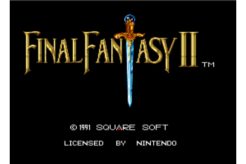 Final Fantasy II (Rev A) - Super Nintendo (SNES) Game