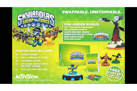Skylanders Swap Force Starter Pack and Game Screenshots ...
