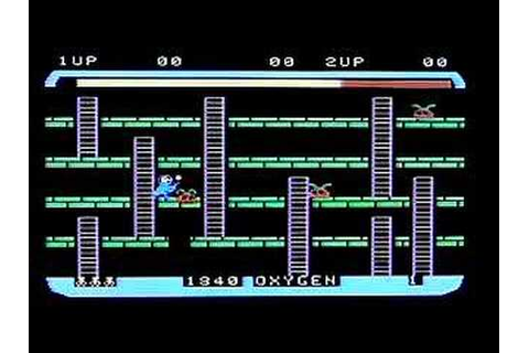 Space Panic on Colecovision. Gameplay & Commentary - YouTube