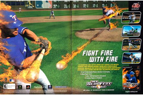 "Video Game Print Ads — ""MLB SlugFest 20-03″ [Xbox / PS2 ..."