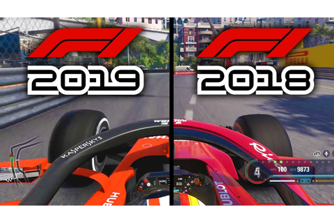 F1 2019 Game v F1 2018 Game: MONACO GP COMPARISON Onboard ...