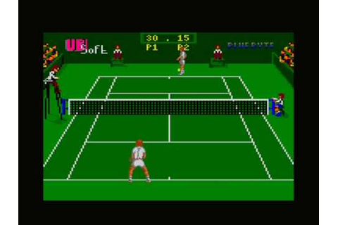 [AMSTRAD GX4000] Pro Tennis Tour (Great Courts) (Gameplay ...