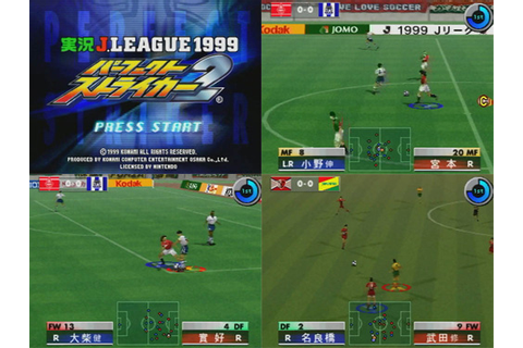 J League 1999 Perfect Striker 2 from Konami - Nintendo 64