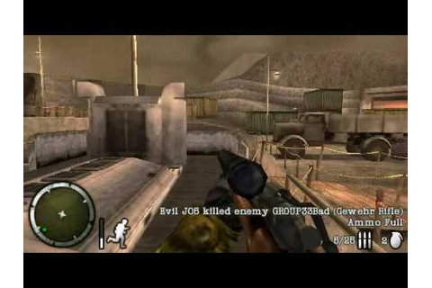 Medal of Honor: Heroes 2 Multiplayer Gameplay (PSP) - YouTube