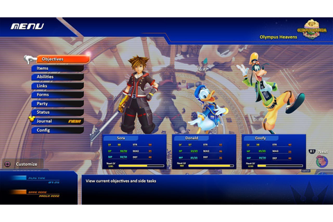 Kingdom Hearts 3 In-Game MENU CONCEPT - 2018 - YouTube