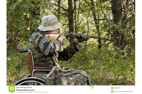Wheelchair hunter stock photo. Image of hunter, wheelchair ...