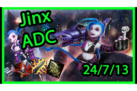 Jinx ADC (S5) Jinx Build - League of Legends Full Game w ...