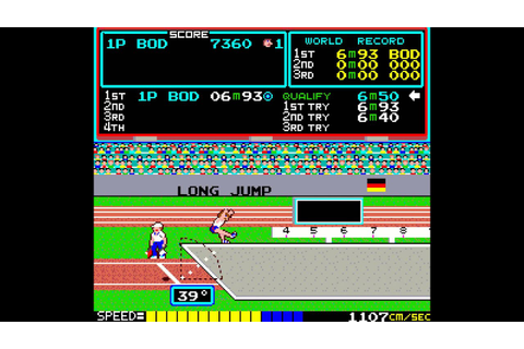 Arcade Game: Track & Field (1983 Konami) - YouTube