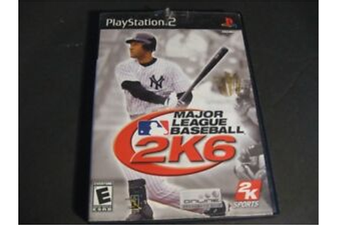 Major League Baseball 2K6 (Sony PlayStation 2, 2006) Video ...