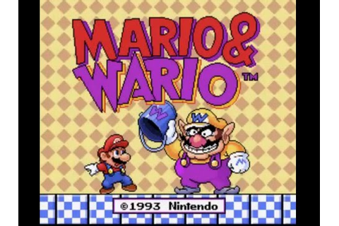 (SNES) Mario & Wario - Playthrough Part 1 - YouTube